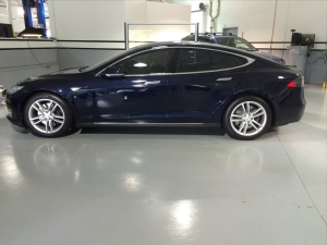 BlueBeauty after tinting.