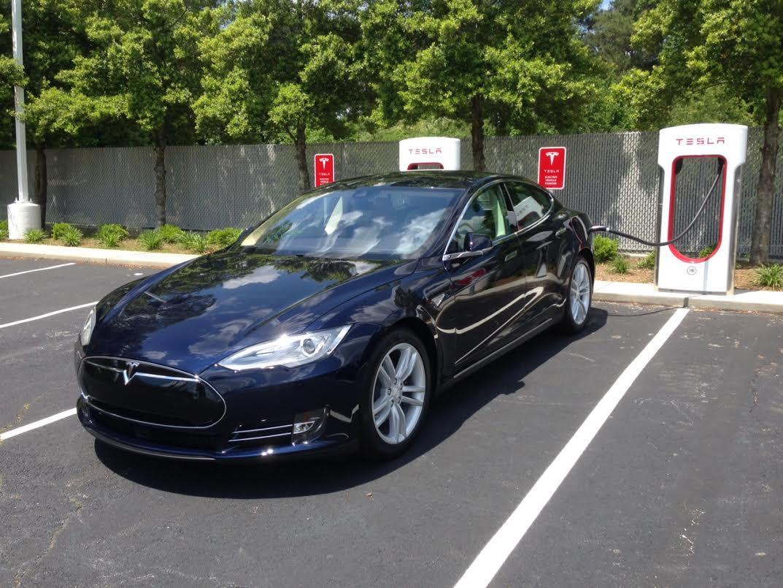 Tesla Model S at Decatur SuperCharger 05032015